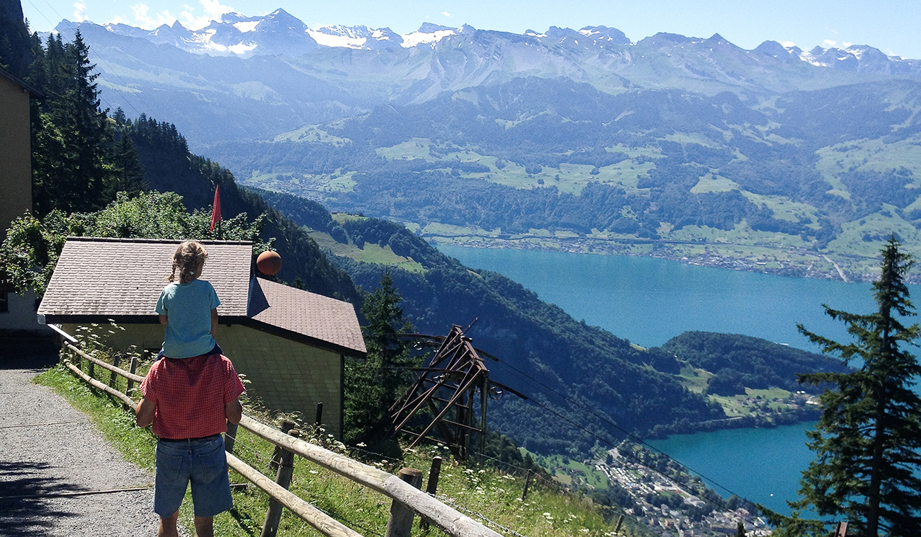 """Hiking on Rigi 